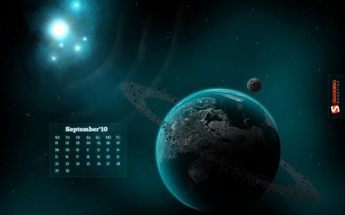 Space in Desktop Wallpaper Calendar: September 2010