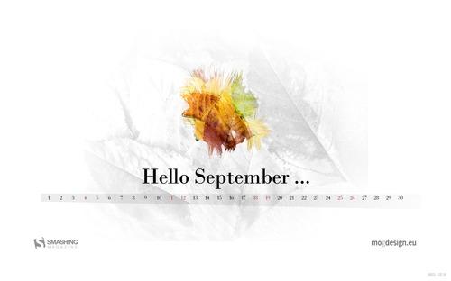 Hello-september in Desktop Wallpaper Calendar: September 2010