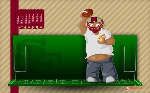New-season in Desktop Wallpaper Calendar: September 2010