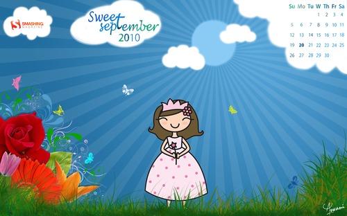 Sweetseptember in Desktop Wallpaper Calendar: September 2010