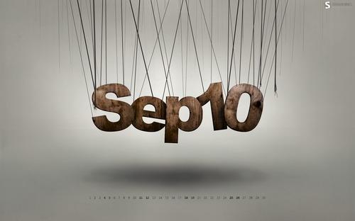 Hanging in Desktop Wallpaper Calendar: September 2010