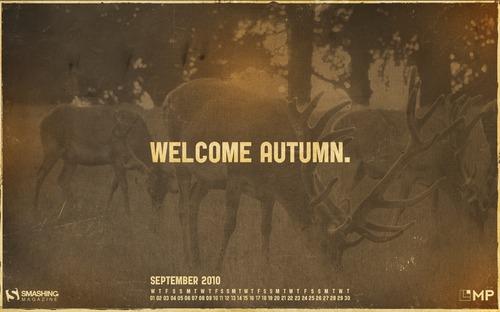 Welcome-autumn in Desktop Wallpaper Calendar: September 2010