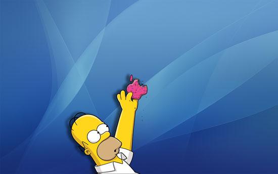 Simpsons OSX wallpaper