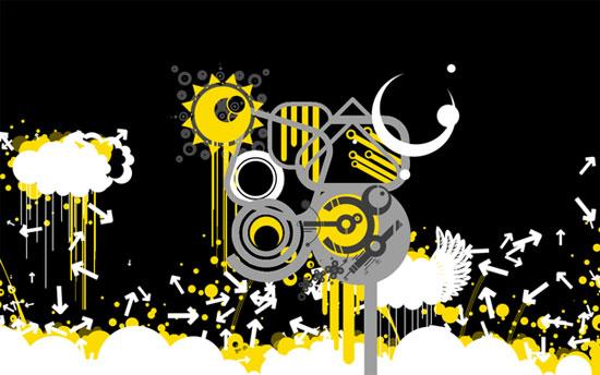 grafika i dizayn  Креативные обои для рабочего стола