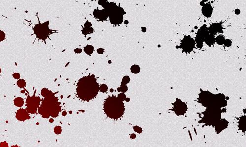 grafika i dizayn  Кровавые кисти Photoshop на Хэллоуин