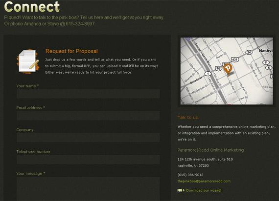 grafika i dizayn  Коллекция контактных форм