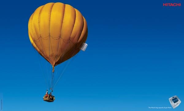 Hot air balloon, CLASSIC PARTNERSHIP ADVERTISING, HITACHI, Печатная реклама