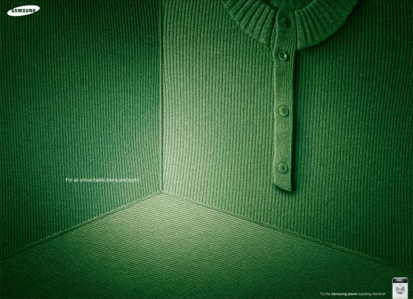 GREEN, SAMSUNG WASHING MACHINE, Cheil Worldwide, SAMSUNG, Печатная реклама