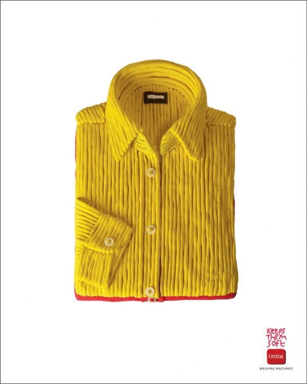 Onida Washing Machines: Shirt, Onida Washing Machines, McCann-Erickson Mumbai, Onida, Печатная реклама