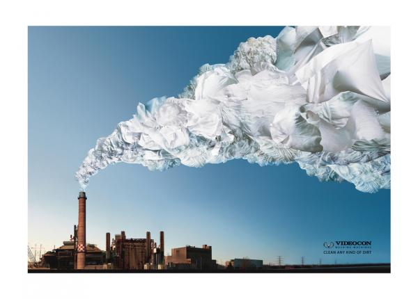 Videocon washing machine: Chimney, Ogilvy & Mather, Mumbai, VIDEOCON, Печатная реклама