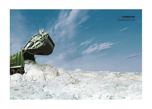 Videocon washing machine: Dumping, Ogilvy & Mather, Mumbai, VIDEOCON, Печатная реклама