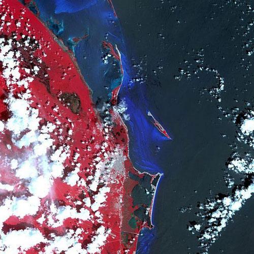 Канкун - Мехико спутниковое фото