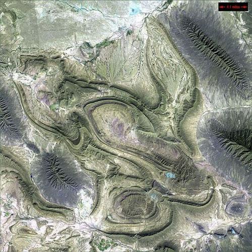 Коауила - Мексика спутниковое фото