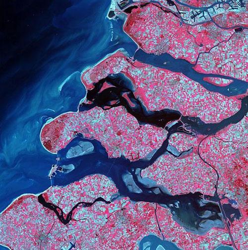 Delta - Голландия спутниковой фотографии