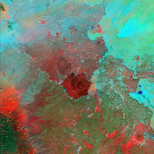 Сириуса пустыни - Сирия, Иордания, Ирак и Саудовская Аравия спутниковое фото