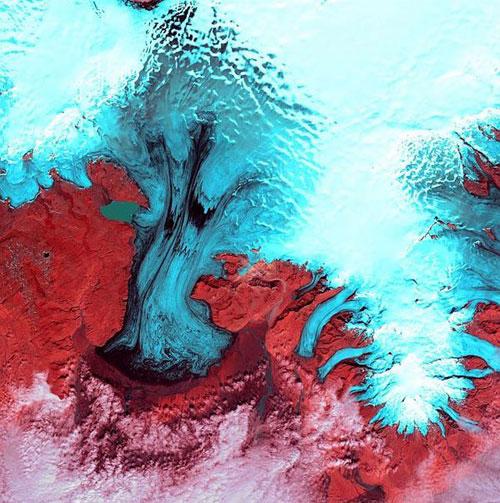 Ватнаекуль - Исландия спутниковое фото