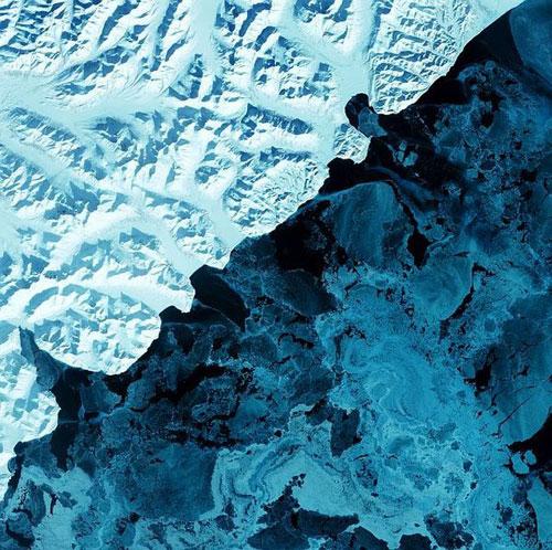 Камчатка - Россия спутниковое фото