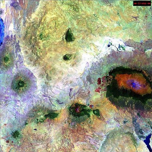 Килиманджаро - Танзания спутниковое фото