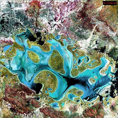 Озеро Карнеги - Австралия спутниковое фото