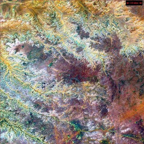 Гадамес реки - Ливия спутниковое фото