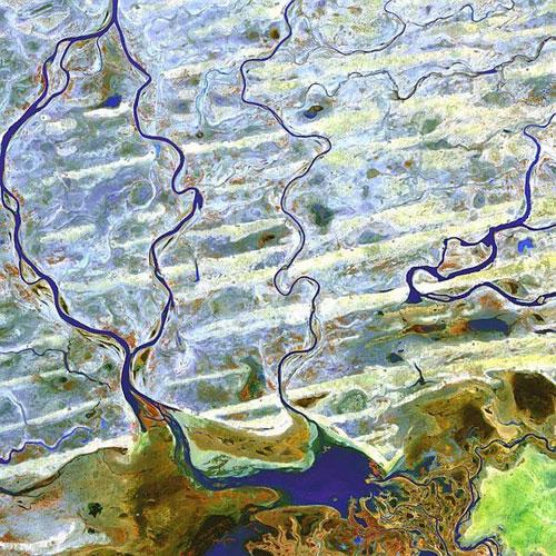 Нигер реки - Африка спутниковое фото