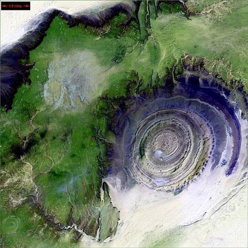 Richat Структура - Мавритания спутниковое фото