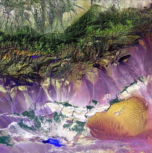 Богда Горы - Китай спутниковое фото