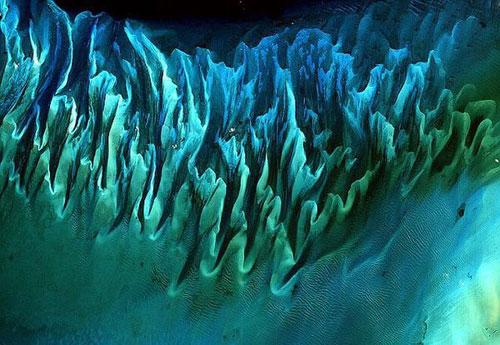 Багамы спутниковой фотографии
