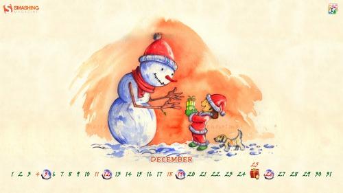 New Santa New Gifts 67 in Desktop Wallpaper Calendar: December 2010