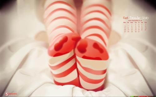 Cosy Socks 98 in Desktop Wallpaper Calendar: December 2010