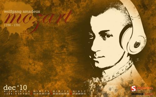 Fallen Icon Mozart 59 in Desktop Wallpaper Calendar: December 2010