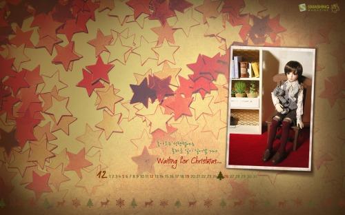 Waiting For Christmas 83 in Desktop Wallpaper Calendar: December 2010