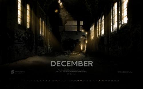 Winter Atmosphere 39 in Desktop Wallpaper Calendar: December 2010