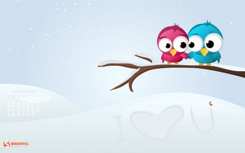 Greatest Love 69 in Desktop Wallpaper Calendar: December 2010