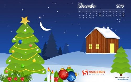Christmas Eve 7 in Desktop Wallpaper Calendar: December 2010