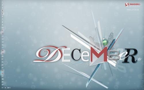 Frozen 34 in Desktop Wallpaper Calendar: December 2010