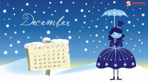 Winter Wonderland 11 in Desktop Wallpaper Calendar: December 2010