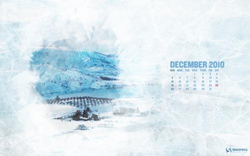 Frosted Glass 83 in Desktop Wallpaper Calendar: December 2010