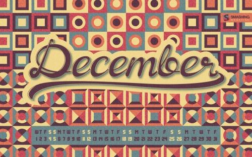 Cosy Retro 54 in Desktop Wallpaper Calendar: December 2010