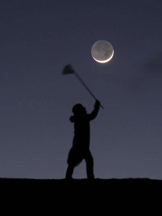 foto  Игры с луной