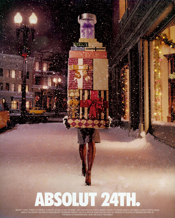 absolut aa The 7 most bizarre Christmas print ads