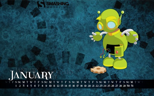 Little Gizmo 25 in Desktop Wallpaper Calendar: January 2011