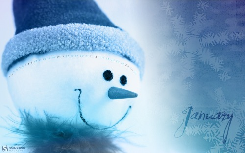 Snowman 8 in Desktop Wallpaper Calendar: January 2011