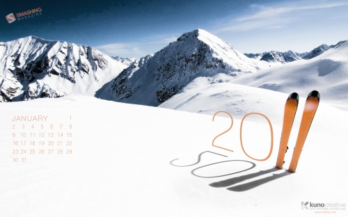 New Year New Goals 23 in Desktop Wallpaper Calendar: January 2011