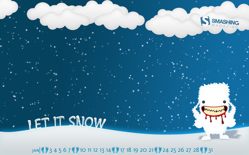 Yeti Weekends 45 in Desktop Wallpaper Calendar: January 2011