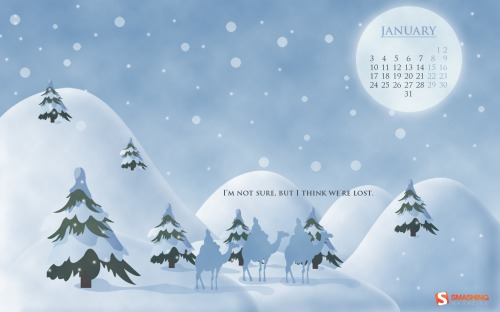 Lost Wiseman 90 in Desktop Wallpaper Calendar: January 2011