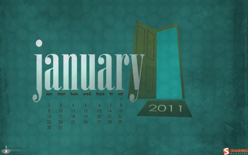 A Door To A New Year 26 in Desktop Wallpaper Calendar: January 2011
