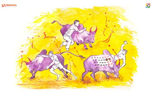 Bull Fight The Ancient Sport Of Heroes 99 in Desktop Wallpaper Calendar: January 2011
