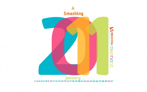 Smashing 2011 22 in Desktop Wallpaper Calendar: January 2011