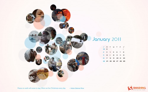 2010 Memories 72 in Desktop Wallpaper Calendar: January 2011
